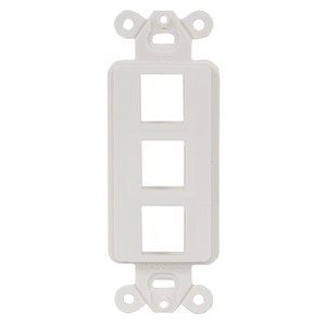 Hubbell-Premise ISF3OW PLATE, DECORATOR FRAME,3PORT,OW