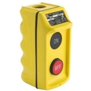 Square D 9001BW94Y Pendant Station, 1 Speed, ON/OFF, Yellow, Strain Relief Connector