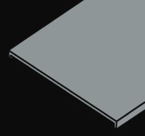 """Husky CA2S-12-144 Aluminum Solid Flat Cover for Ladder Cable Tray, 12"""" W x 12' L"""