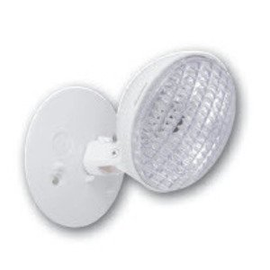 Hubbell-Dual-Lite SRHSW0607 Emergency Light, Incandescent, Remote, 1-Head, 7.2W, 6V, White