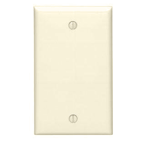 Leviton 80714-T Blank Wallplate, 1-Gang, Nylon, Light Almond, Standard, Box Mount