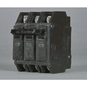 ABB THQC32030WL Breaker, 30A, 3P, 240V, Q-Line Series, 10 kAIC, Lug In/Lug Out