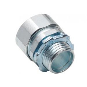 "Bridgeport Fittings 3004-US Compression Connector, 1-1/2"", Steel/Zinc"