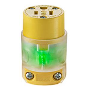Leviton 515CV-LIT 15 Amp, 125 Volt, NEMA 5-15R, 2Pole, 3Wire Connector, Straight Blade - Lighted