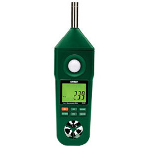Extech EN300 5 in 1, Hygrometer, Thermometer, Anemometer, Light, Sound Meter