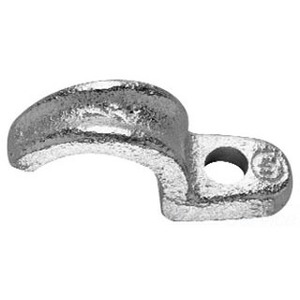 "Cooper Crouse-Hinds 511 Rigid Conduit Strap, 1-Hole, Size: 3/4"", Material: Malleable Iron"