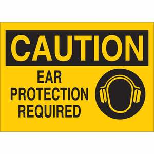 25891 EAR PROTECTION SIGN