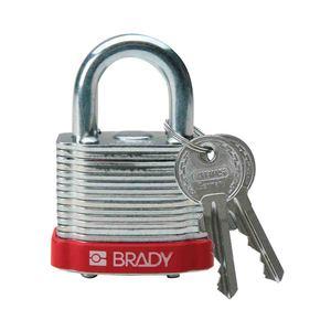 """99500 BRADY LOCK STEEL 0.75"""" KD RED"""