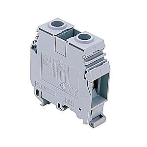 Entrelec 011512407 Terminal Block, Feed Through, 16mm, Type: M 35/16, Gray