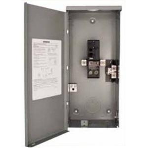 Siemens W0204ML1060 Breaker Enclosure, 60A, 1PH, 240V, 2/4, NEMA 3R