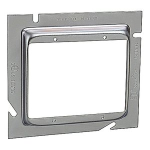 Steel City 82C-2G-1/2 5-SQUARE DOUBLE GANG RING 1/2-IN