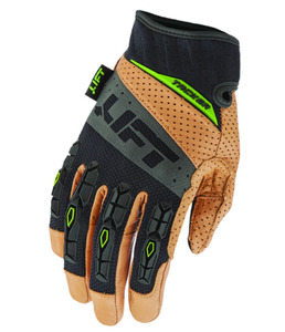 Lift Safety GTA-17KBM TACKER GLOVE (BROWN/BLACK)- GENUINE LEATHER ANTI-VIBE