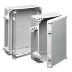 nVent Hoffman Q402013PCIQRCCR Junction Box, NEMA 4x, Clear Cover, 400 x 200 x 123mm