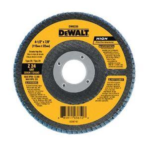 """DEWALT DW8313 4-1/2""""x5/8""""-11 Z60 T29 Flap Disc, 80 Grit"""