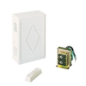 Air King CK200 Chime Kit, One Entrance, 16VAC, Illuminated Pushbutton, Wired, White