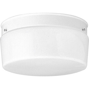 Progress Lighting P3520-30 Drum Fixture, 2-Light, 75W, White