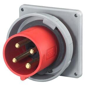 Hubbell-Wiring Kellems HBL460B7W PS, IEC, INLET, 3P4W, 60A 3P 480V,4X/69K