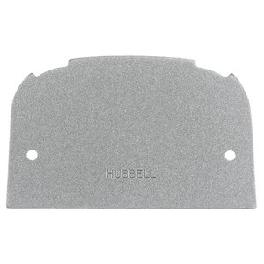 Hubbell-Kellems SS309BF Locon Face Plate, Blank, Alu