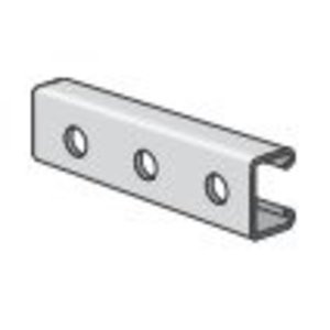 "Power-Strut PS500H-10PG Channel - Bolt Holes, 1-7/8"" Centers, Steel, Pre-Galvanized, 1-5/8"" x 13/16"" x 10'"