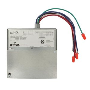 Leviton MZB02-102 miniZ™ Controller, Basic Model, Dual Room, (2) 120-277VAC, 20A 1-pole Relays, No Dimming