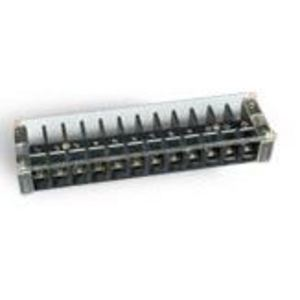 GE EB25B12 Terminal Strip, Heavy Duty, 10 to 18 AWG, 12 Circuits, 30A, 600V
