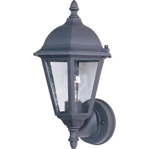 Maxim Lighting 1002BK Outdoor Wall Lantern, 1-Light,  60W, Incandescent, Black