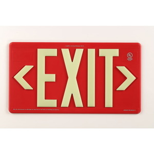 Jessup Mfg 7070-B-WM PM100 RED SINGLE SIDED GLOW BRITE EXIT