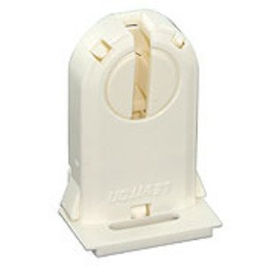 Leviton 23660-OSL Fluorescent Lampholder, Medium Base, Turn Type w/ Lock, White