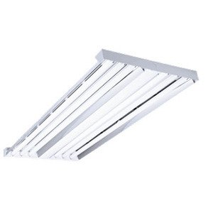 Hubbell-Columbia Lighting LHV4-632-M4RU-3EHLU High Bay Fixture, 4', 6-Lamp, T8, 32W, 120-277V