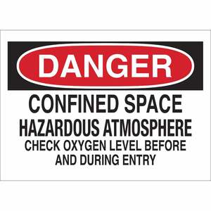 22429 CONFINED SPACE SIGN