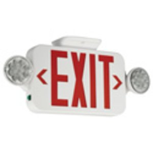 Hubbell-Dual-Lite CCR Emergency Combo Exit/Light, LED, Red Letters