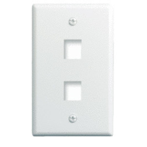 ON-Q WP3402-WH Wallplate, 1-Gang, 2-Port, White