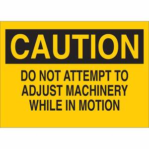 22870 MACHINE & OPERATIONAL SIGN
