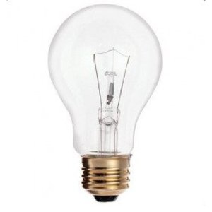 Satco S6042 Incandescent Bulb, A19, 60W, 120V, Clear