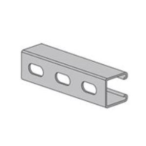 "Power-Utility Products AS-132-OS-10-SS4 Channel - Elongated Holes, Stainless Steel 304, 1-5/8"" x 1-5/8"" x 10'"