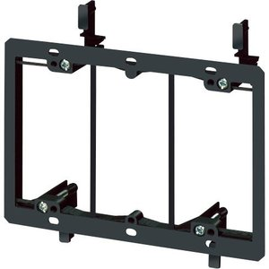 Arlington LV3 Mounting Bracket, 3-Gang, Low Voltage, Non-Metallic
