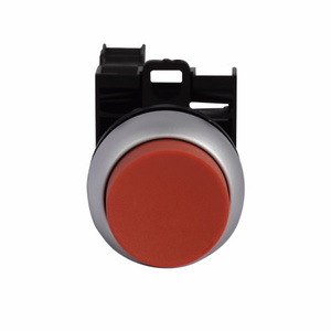 Eaton M22-DH-R-K11-P Push Button, Extended Red, 22.5mm, 1NO/NC Contact, Non-Metallic