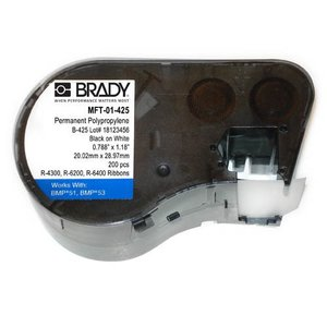 "Brady MFT-01-425 B-425 WHT.0.788"" X 1.18""'"