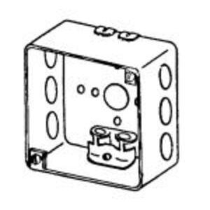 "Appleton 4SXD 4"" Square Box, Welded, Metallic, 2-1/8"" Deep"
