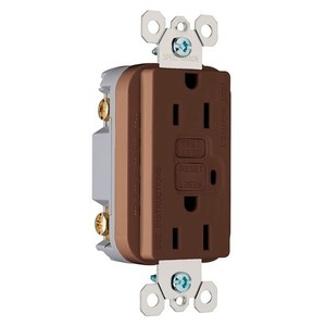 Pass & Seymour 1595 GFCI Receptacle, 15A, 125V, Brown *** Discontinued ***