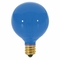 Satco S3834 10 WATT G12 1/2 INCANDESCENT; TRANSPARENT BLUE; 1500 AVERAGE RATED HOURS; CANDELABRA BASE; 120 VOLTS