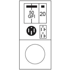 Midwest M055C033U 70A, 1P, 120/240V, Metered Temporary Power