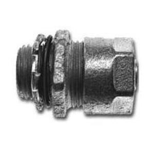 "Cooper Crouse-Hinds LTB50 Liquidtight Connector, Straight, 1/2"", Insulated, Malleable Iron"