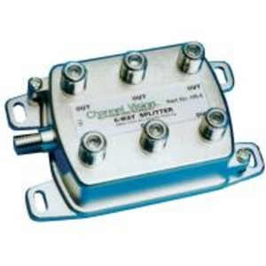 HS-6 6 WAY RF CABLE SPLITTER 1GHZ PASS