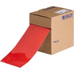 "Brady 104373 Floor Marking Tape, 4""x100', Red"