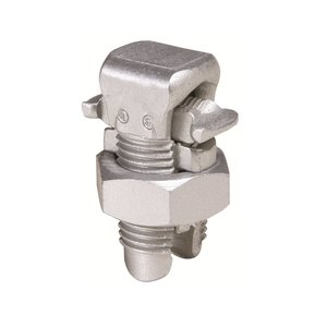 Burndy KSA1/0 Split Bolt, Aluminum, Run: 2 to 1/0 AWG, Tap: 8 to 1/0 AWG