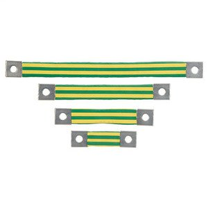 Panduit BS100845 Braided Bonding Strap, One-Hole, Insulat