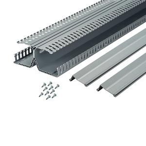 "Panduit DRD33LG6 DIN Rail Wiring Duct, Dual Channels, Base/Cover, Gray, 3"" High x 6' Long"