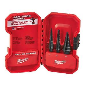 Milwaukee 48-89-9221 3-Piece Step Drill Bit Set