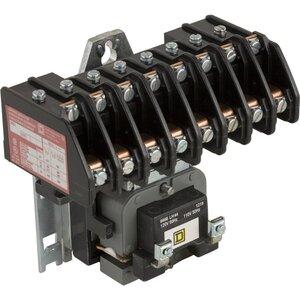 Square D 8903LO80V02 Contactor, Lighting, 30A, 600VAC, 120VAC Coil, 8P, 8NO Contacts